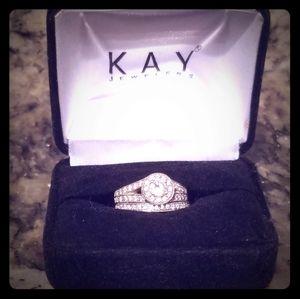 14k gold diamond engagement ring and weddi…